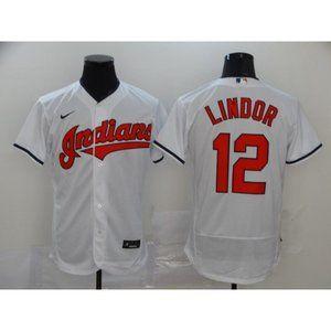 Cleveland Indians Francisco Lindor White Jersey
